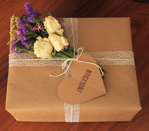 Dried flowers for a gift