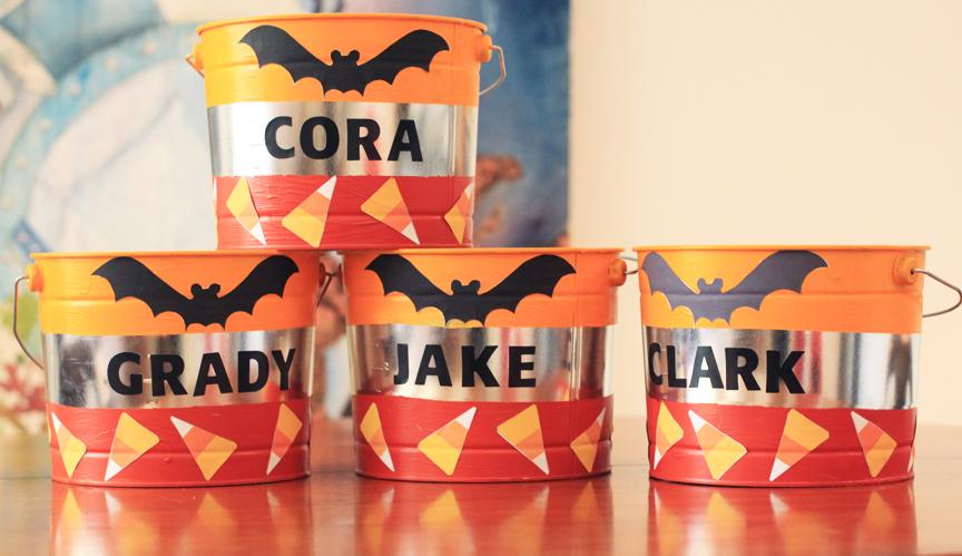 Custom Halloween Buckets for Trick-or-Treating