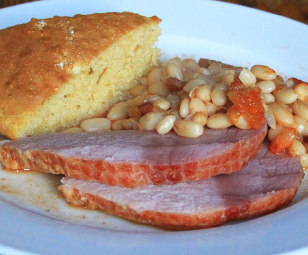 Ham and Beans with Cornbread