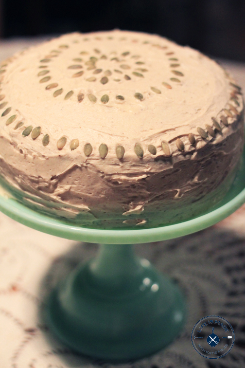 Pumpkin Cake with Chai Frosting Recipe - Life is Made with Katie Miles //www.lifeismadeblog.com