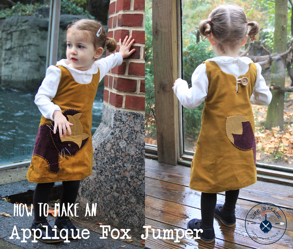 How to Make an Appliqué Jumper for Kids // Life is Made with Katie Miles // www.lifeismadeblog.com