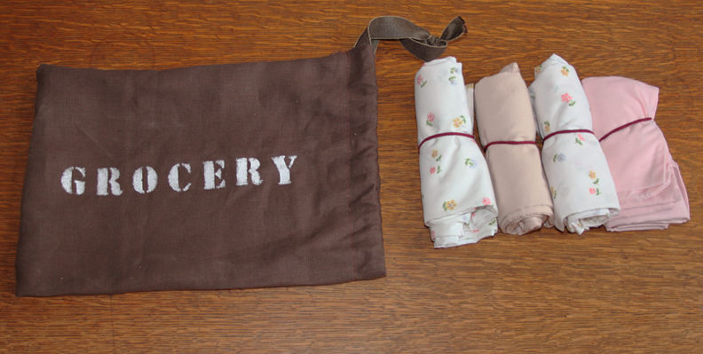Upcycled Pillowcase Grocery Bag Set