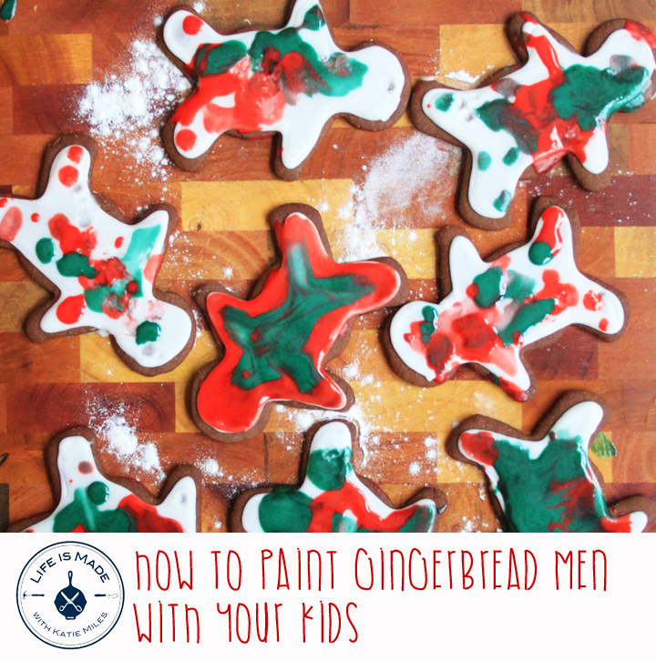 How to paint gingerbread men with your kids