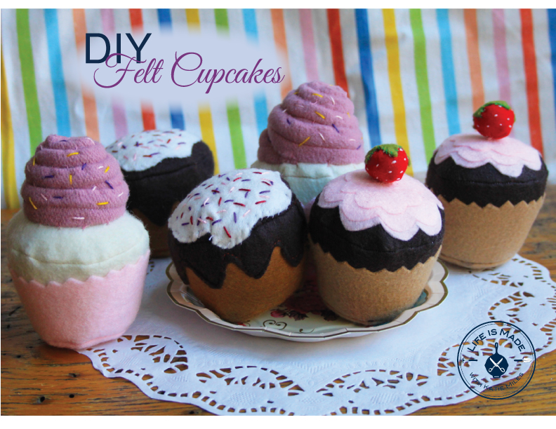 DIY Felt Cupcake Tutorial
