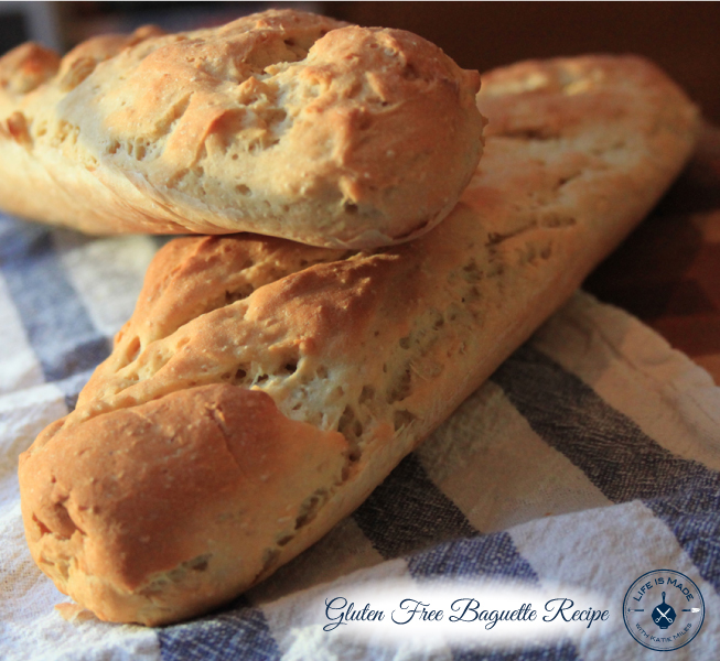 Gluten Free Baguette Recipe- Life is Made with Katie Miles- www.lifeismadeblog.com