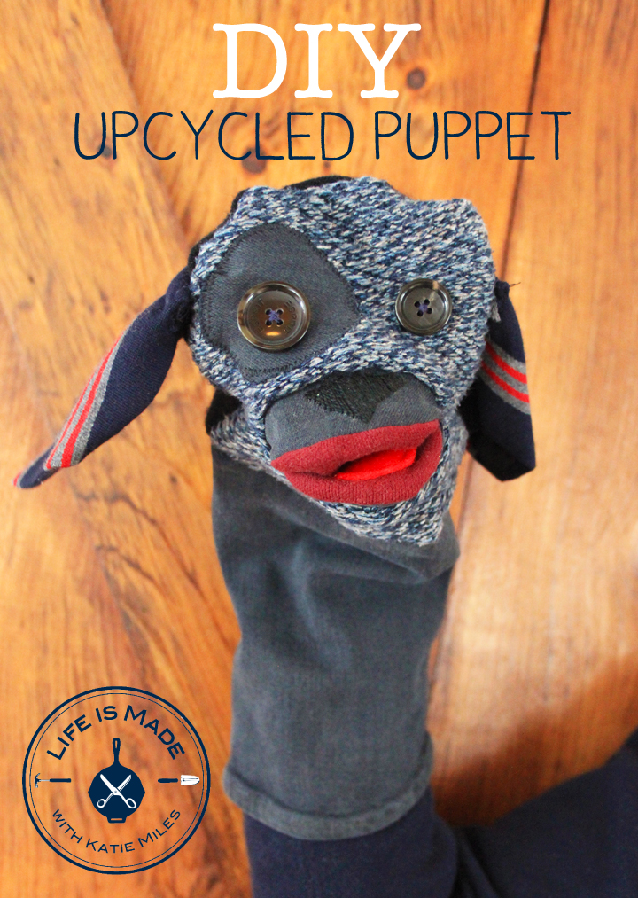 How to make an upcycled puppet from old clothing // Life is Made with Katie Miles // www.lifeismadeblog.com