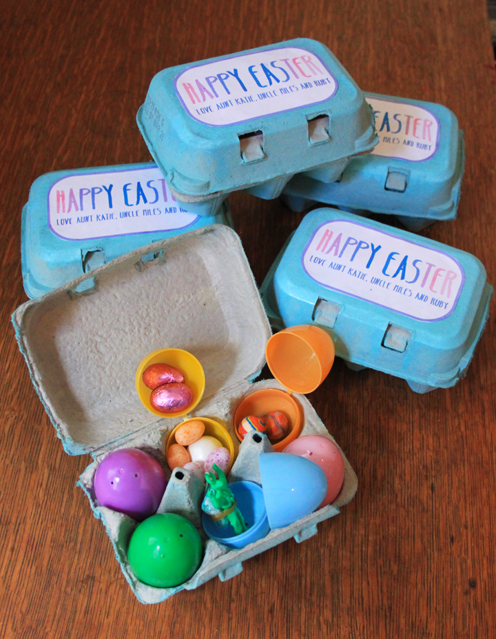How to Make Easter Gifts from Plastic Eggs and Egg Cartons