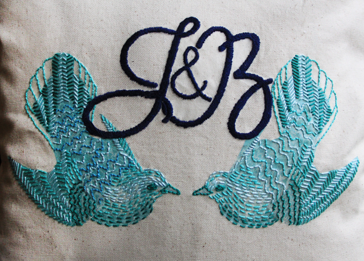 How to Make an Embroidered Pillow with Monogramming // Life is Made with Katie Miles // www.lifeismade.com