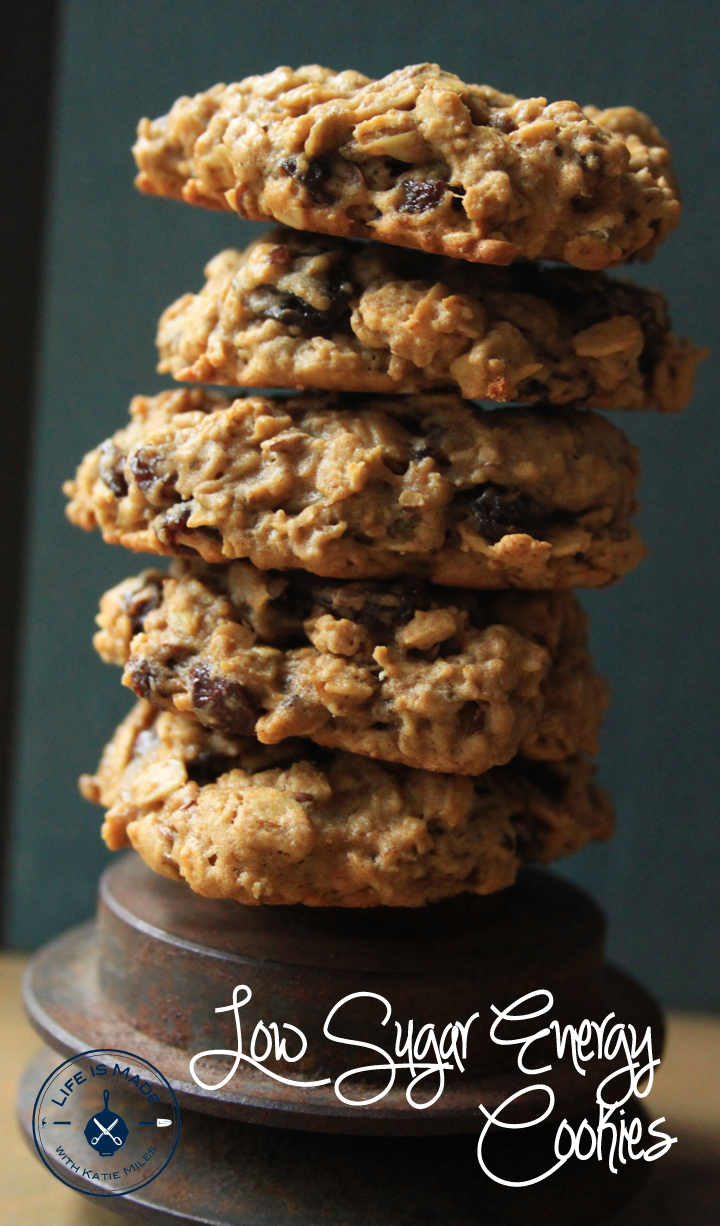 Low Sugar Energy Cookies // Life is Made with Katie Miles // www.lifeismade.com