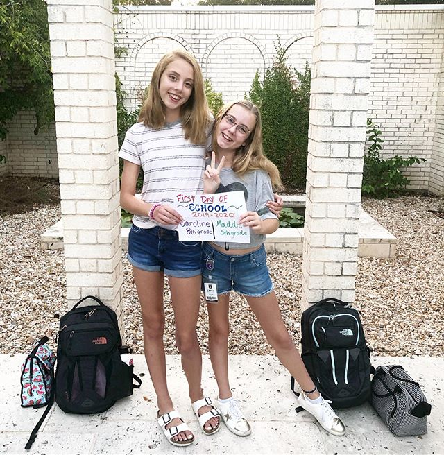 First day of school for my girls. 📚 Last day of middle school and elementary school. 🌬 ⏰