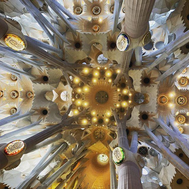 It's hard to describe Gaudi's Sagrada Familia - awe-inspiring, stunning, magnificent, breathtaking...I could keep going. . . . . . #barcelona #sagradafamilia #eurotrip2019 #familytravel