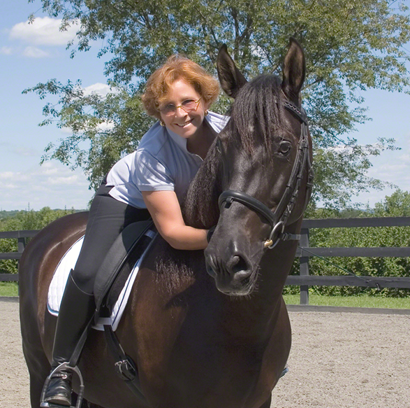 The author and her stallion, Amador TCV, without whom there would not be this book.