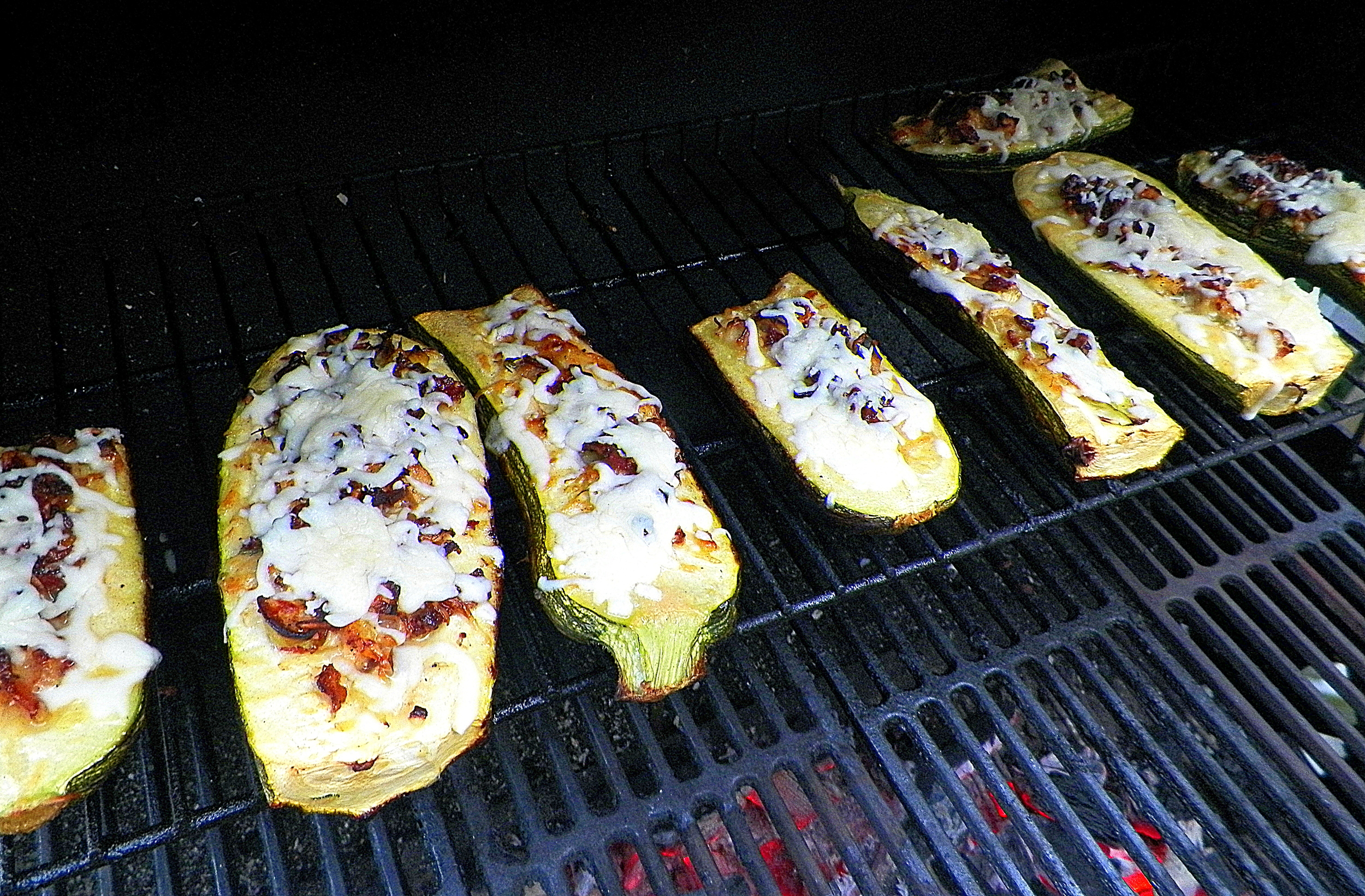 Zucchini on the grill.