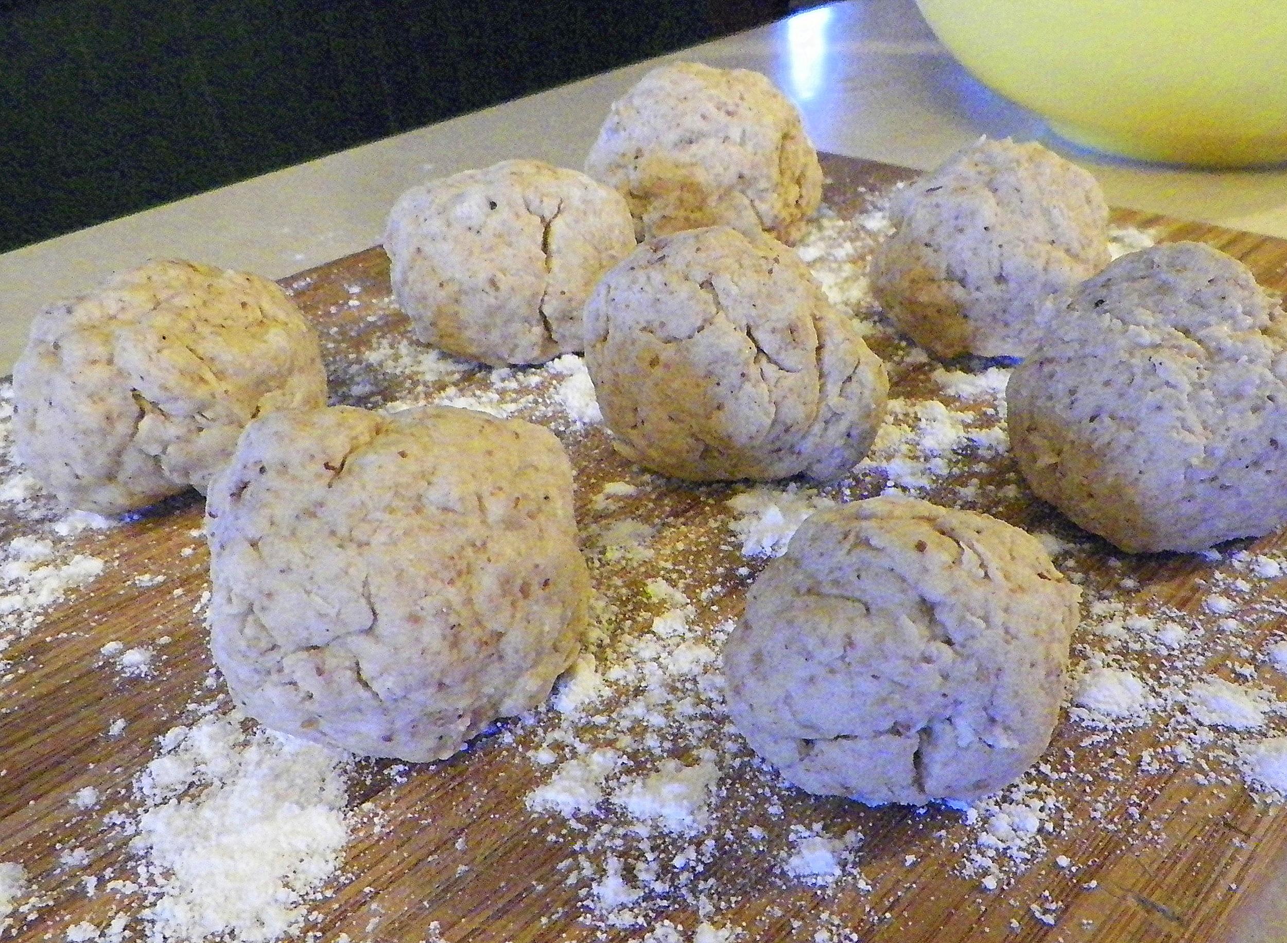 Acorn dumplings.