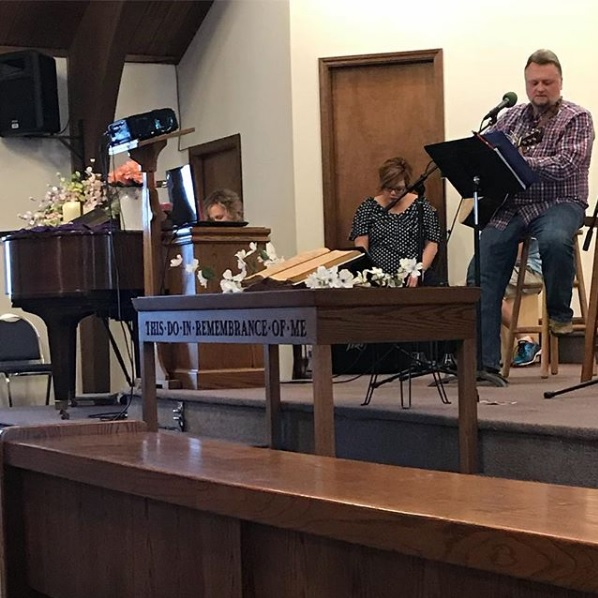 Our Worship Team musicians leading in song.