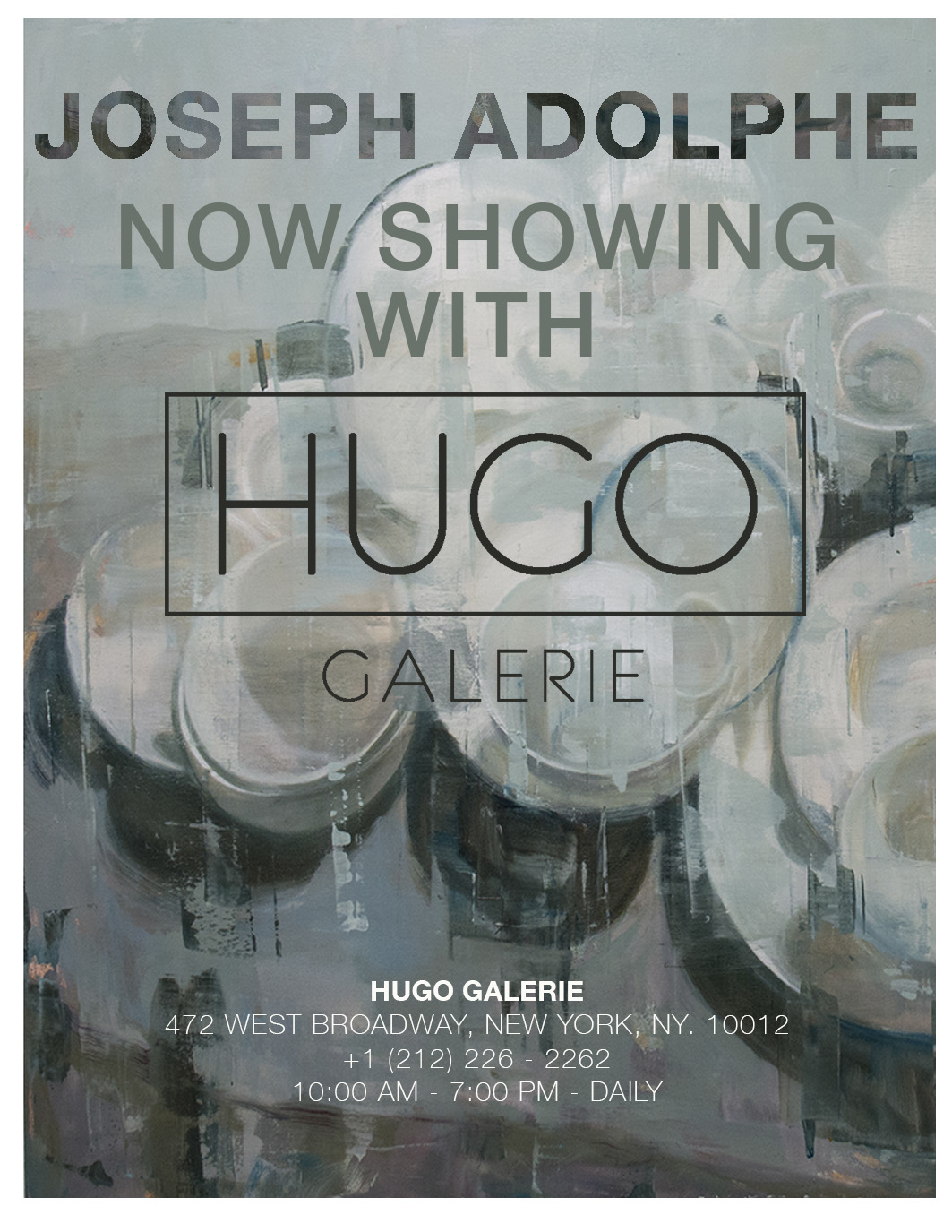 Very Happy to Announce new gallery representation with Hugo Galerie in NYC. Solo exhibition coming in 2020