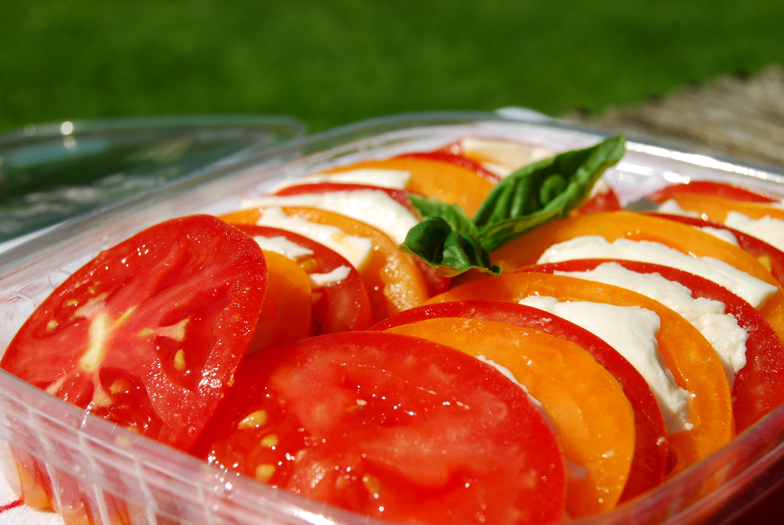 Sliced Local Tomatoes & Fresh Mozzarella