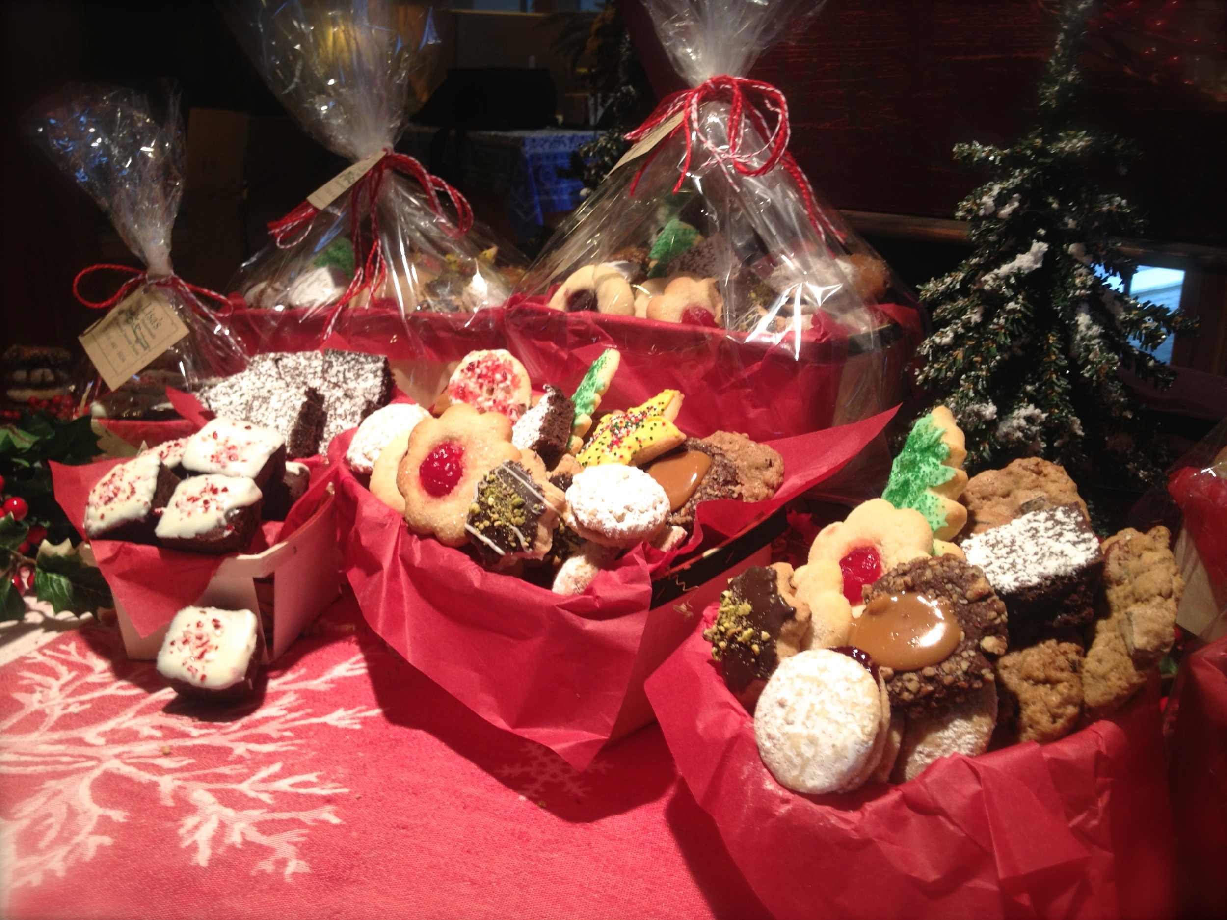 Assorted Christmas Cookies Basket