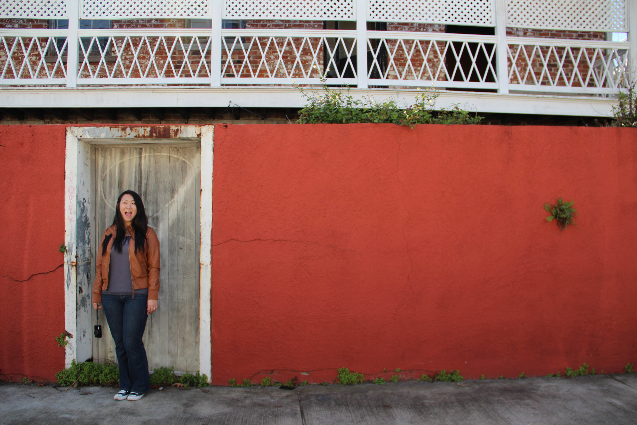 red wall: New Orleans, LA