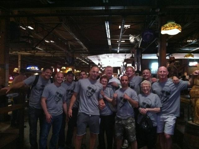 All My friends and family after the fight. Check out Grandy, all smiles, up front!