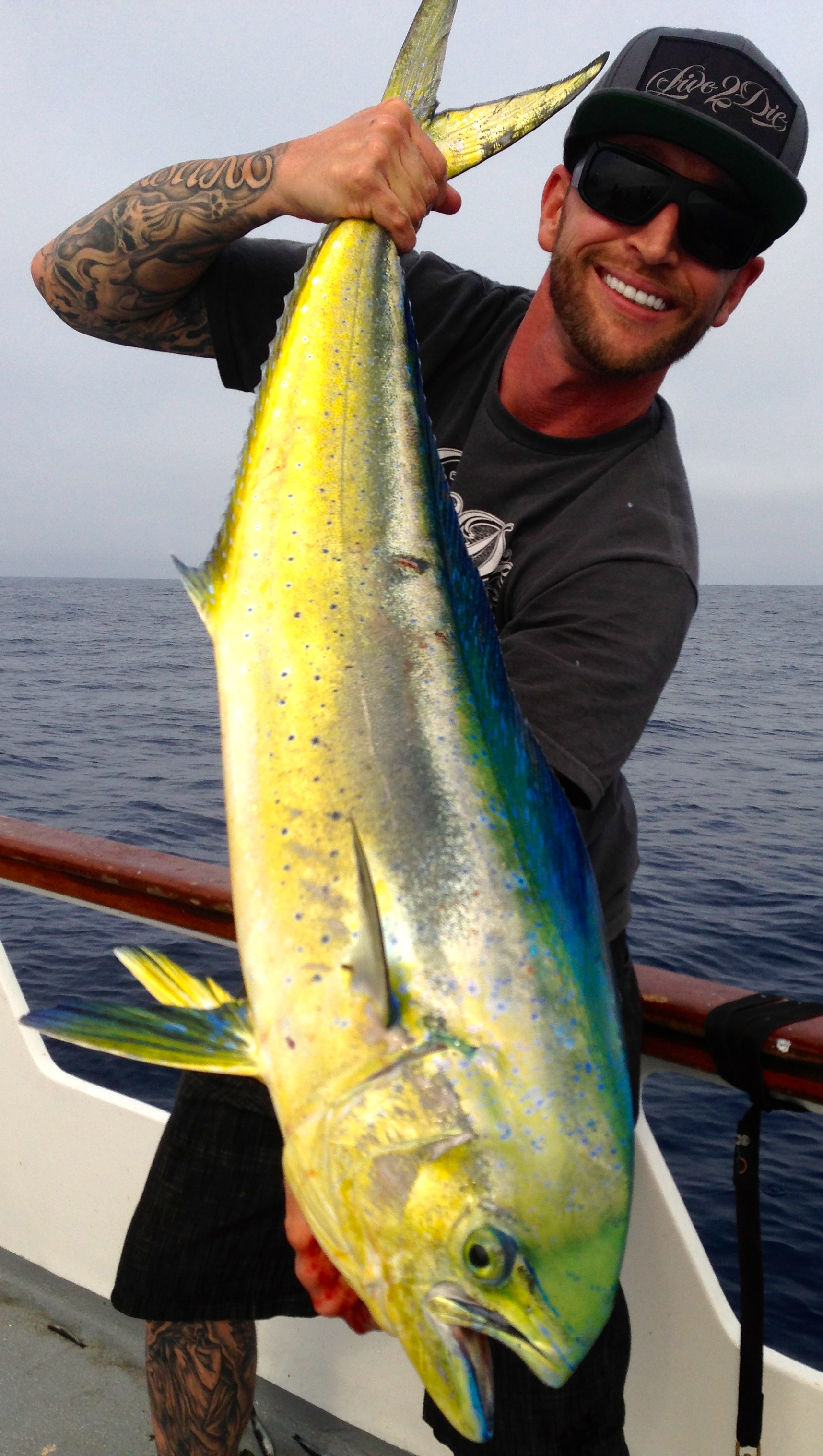 The season's first Dorado. What a beautiful fish, congrats Anthony!