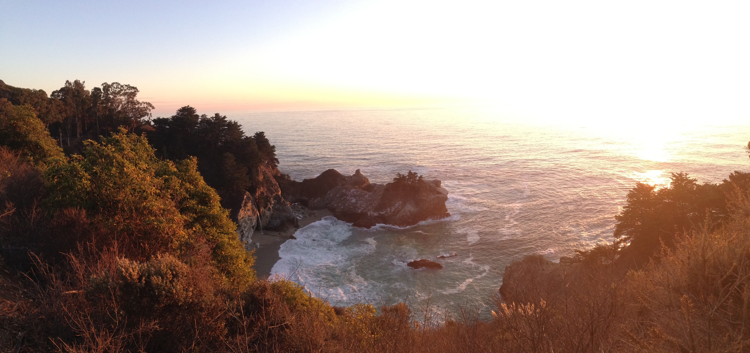 McWay Falls just before sunset