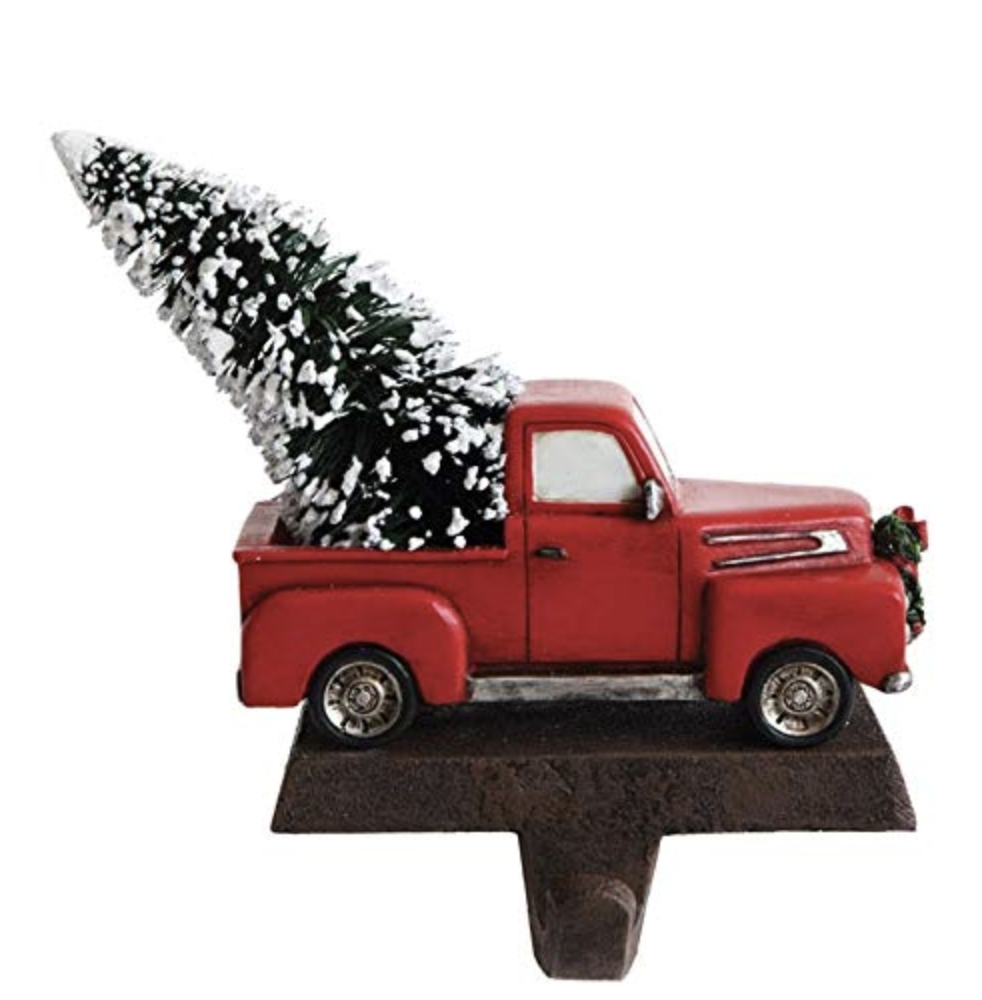 Creative Co-op Vintage Pickup Truck Christmas Stocking Holder