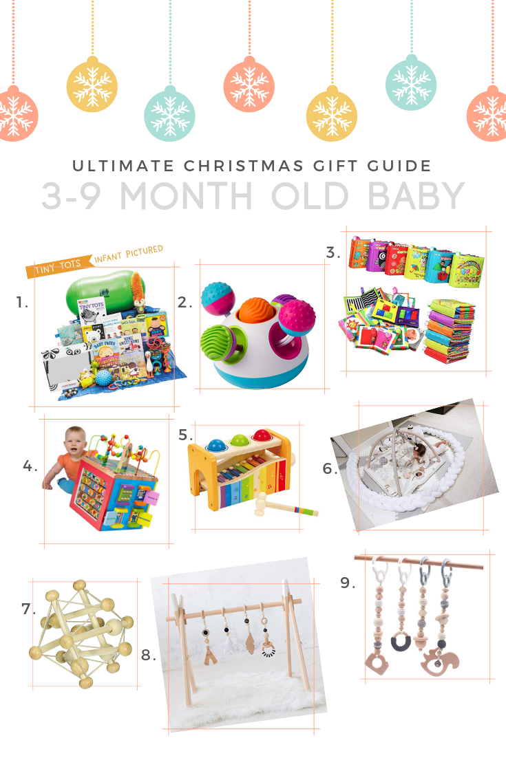 3 month old 4 month old 5 month old 6 month old 7 month old 8 month old 9 month old gift guide