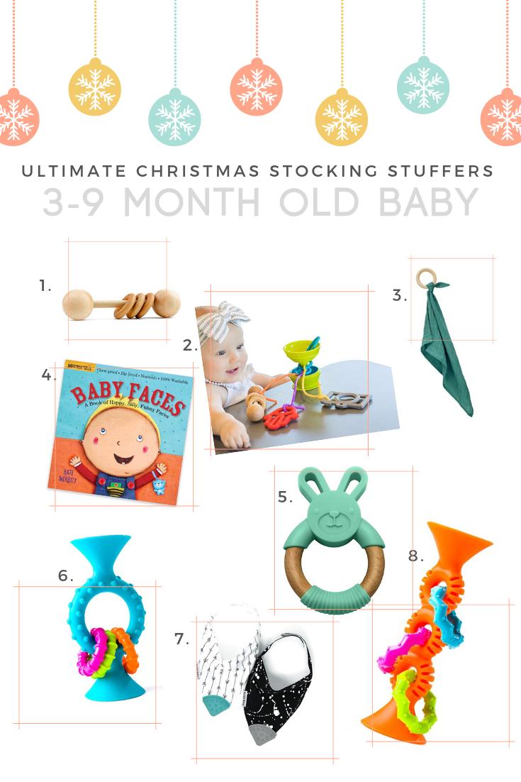 3 month old 4 month old 5 month old 6 month old 7 month old 8 month old 9 month old stocking stuffer ideas