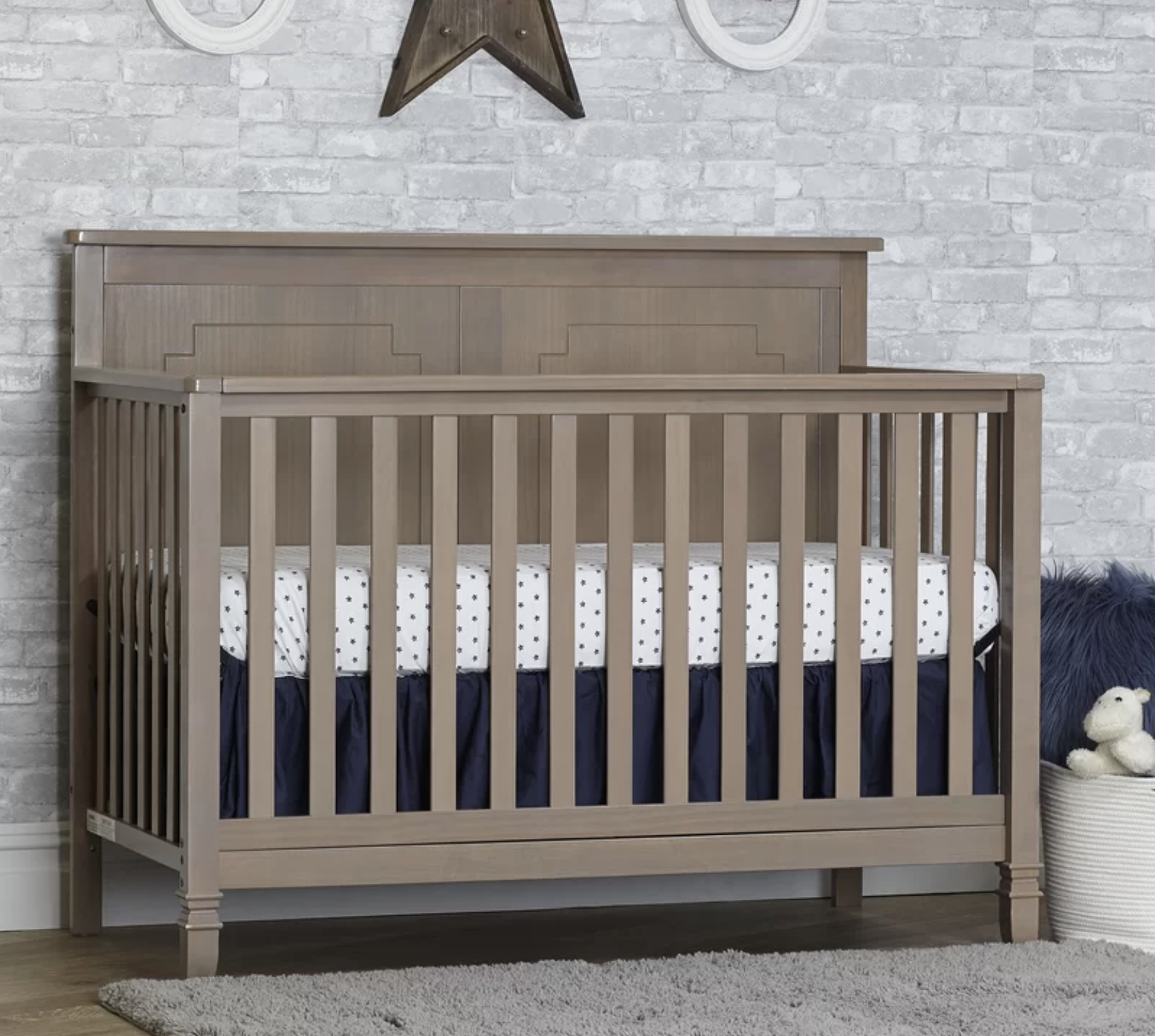 Asher - Blossom Gray - Asher 4-in-1 Convertible Crib