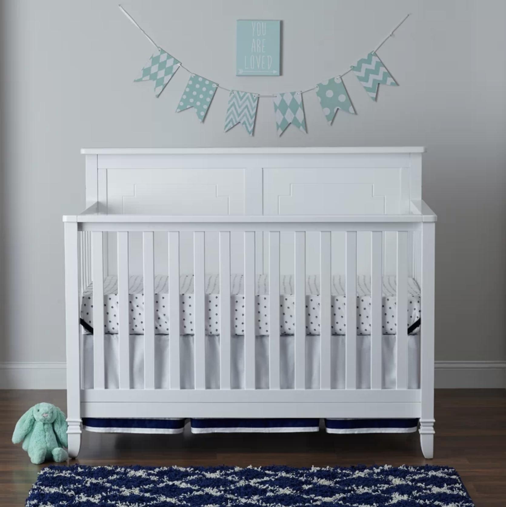 Asher - White - Asher 4-in-1 Convertible Crib
