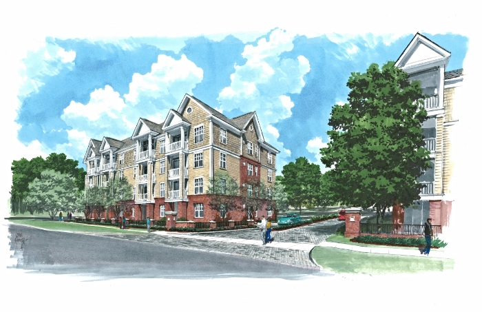 November 11, 2014 -  Rendering of the street view as seen from Newport Avenue, by John Poreda.