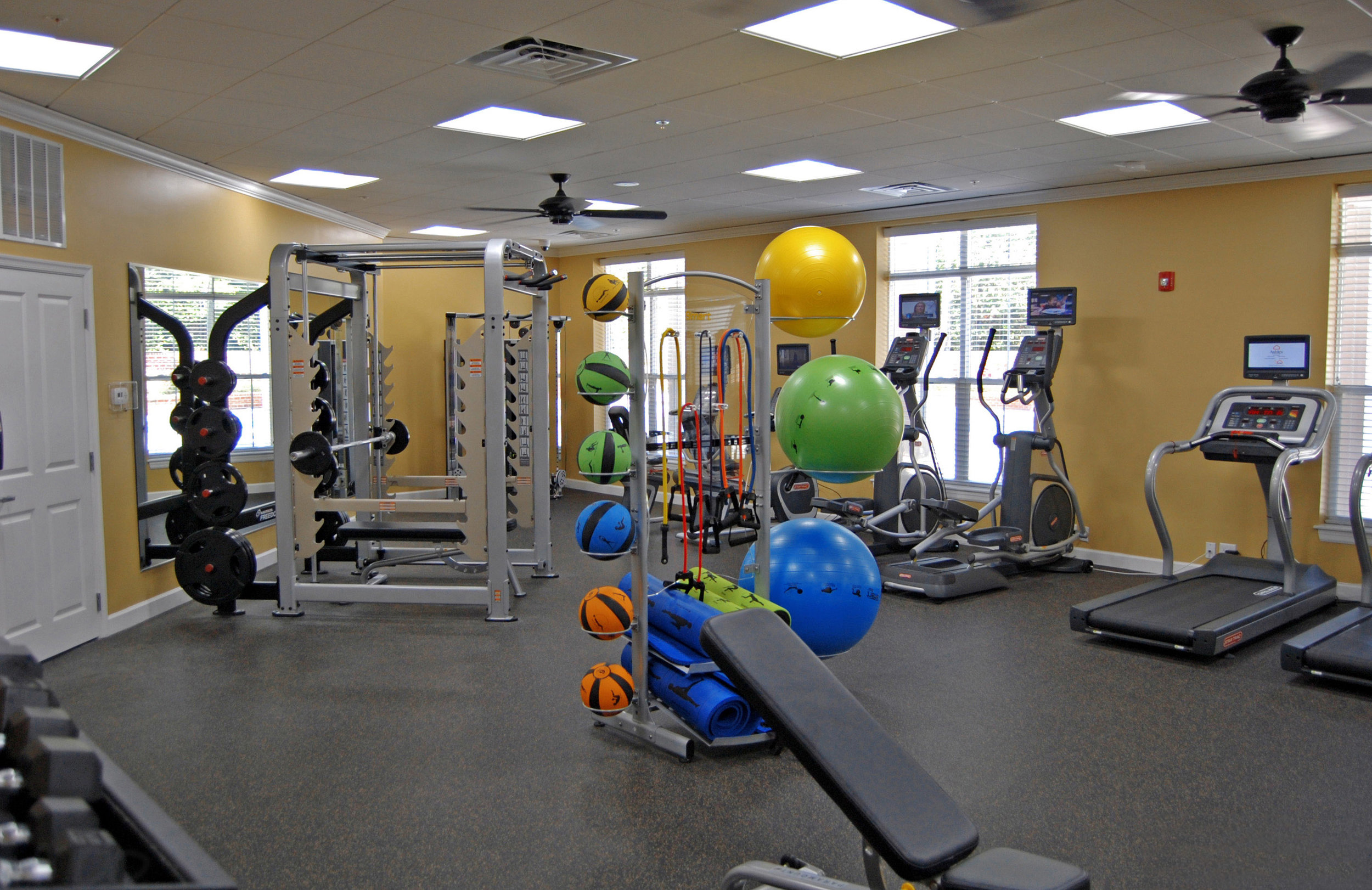 October 9, 2017  - View of Fitness Room