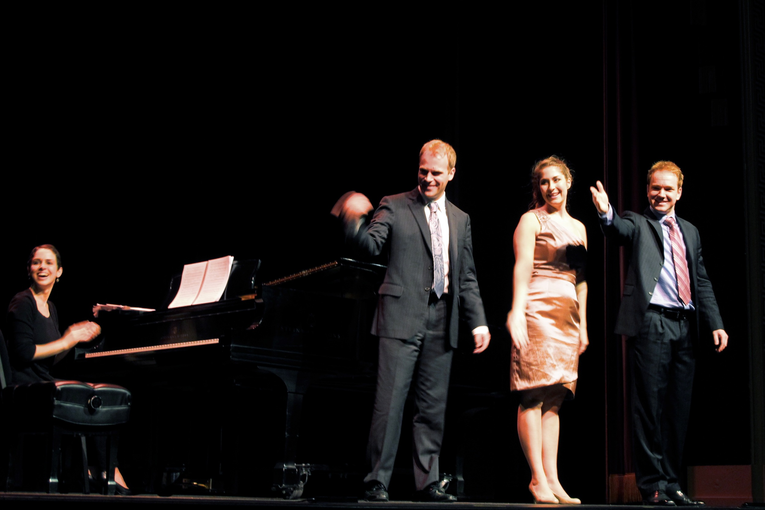 Opera in Williamsburg Jonathan Jonathan and Emily calling me to the stage.jpg