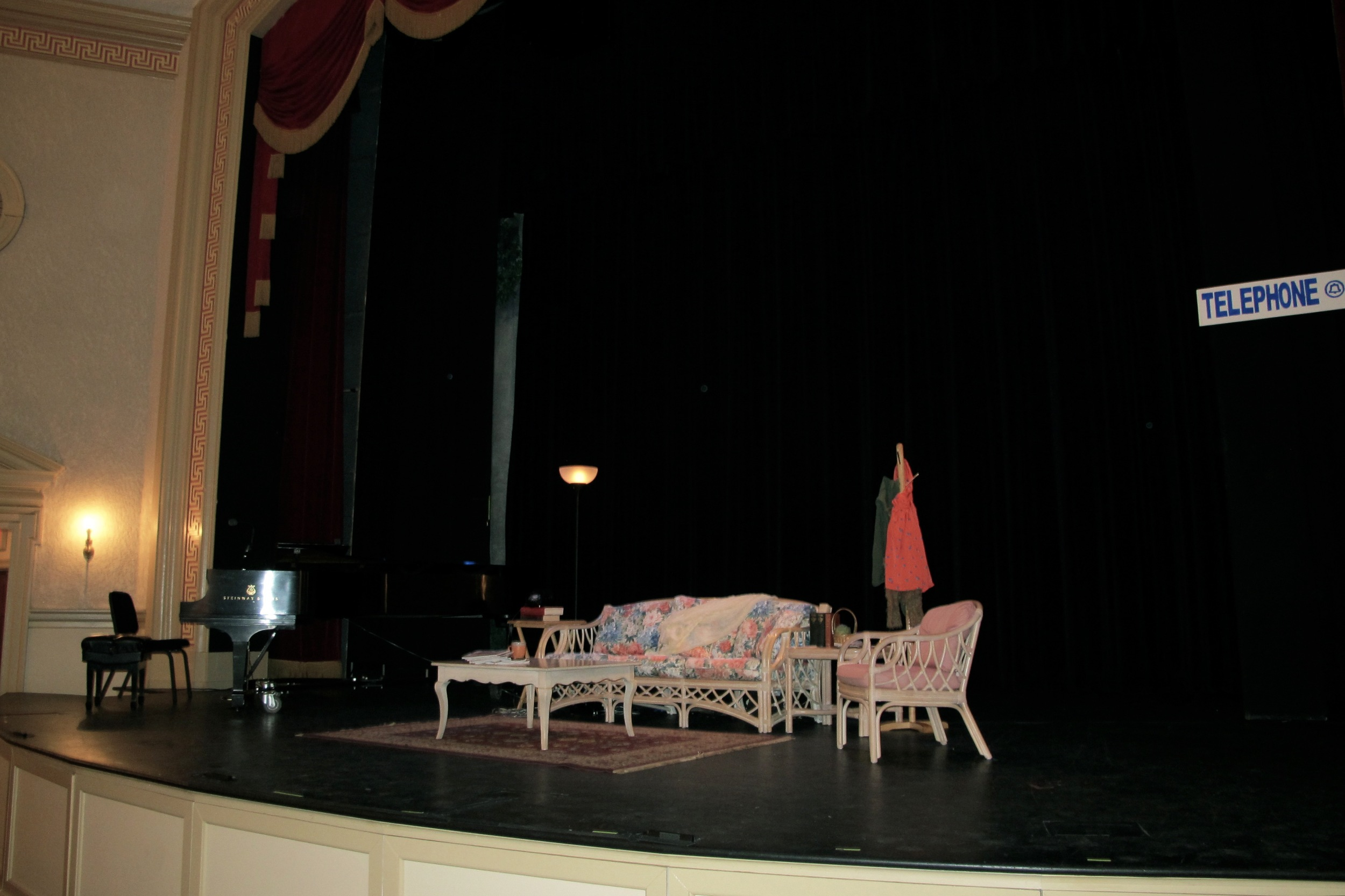 set of Opera in Williamsburg The Telephone 2012.jpg