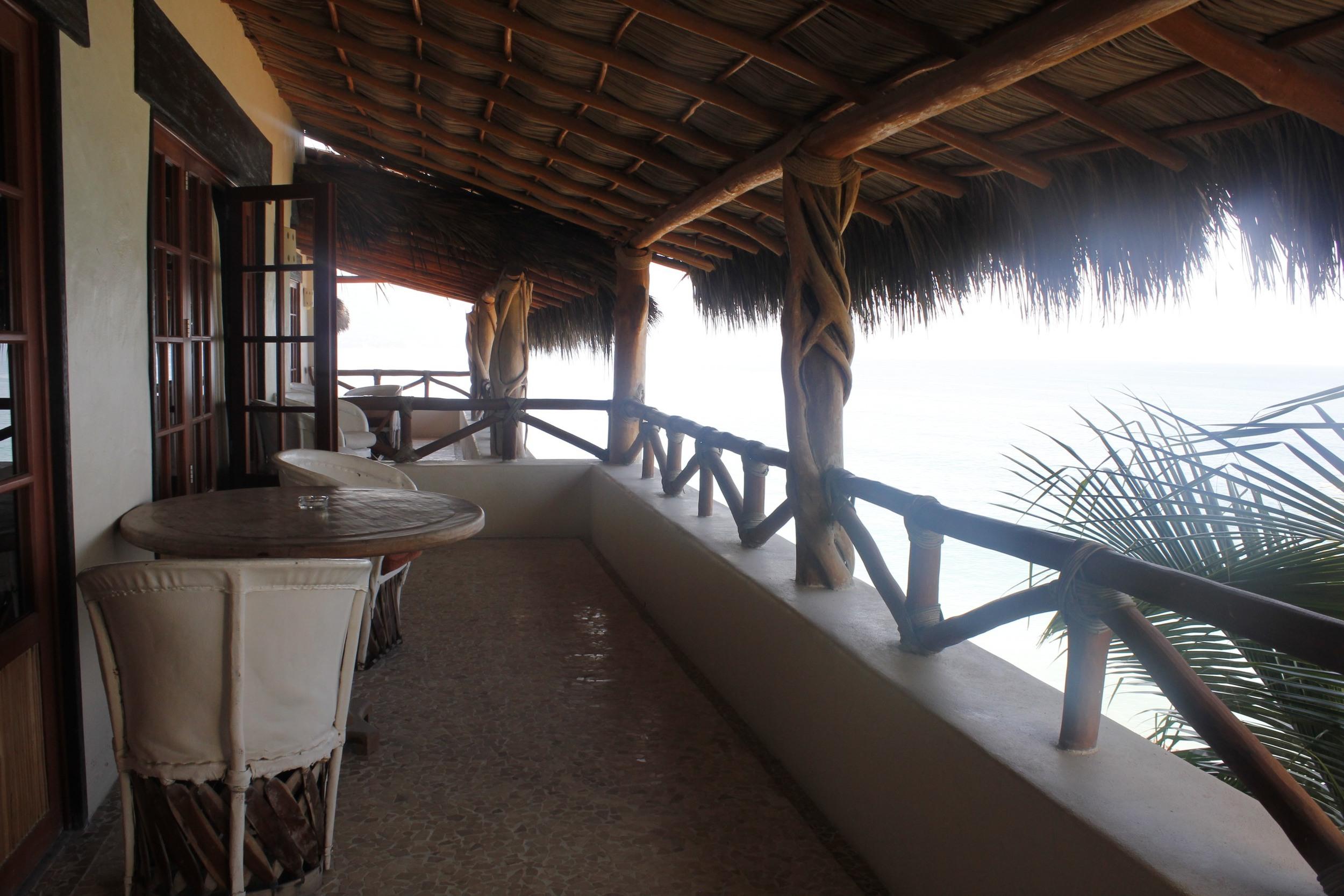 amazingly private balcony