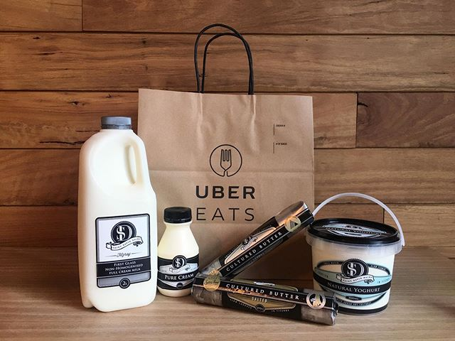 Did you know you can purchase our wonderful St David Dairy products through UberEats? Open during our Retail Shop hours and available within a 3km radius of Fitzroy! ⁣ @ubereats_aus #stdaviddairy #fitzroydairy #microdairy #barista #melbournecoffee #fresh #freshproduce #local #localgrocer #goodfood #coffee #latteart #milk #melbournecafe #melbournefood #melbournemilk #baristalife #moo #moojuice #legendairy #coffeeoftheday #coffeeotd #livingthecream #ihaveacream #goodvibesonly✌