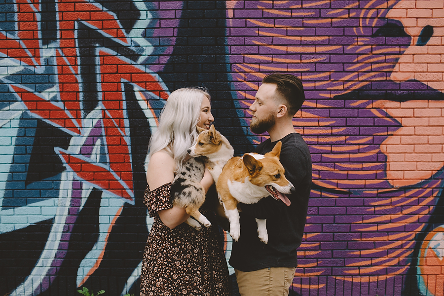 Downtown Engagement Photography in Fort Wayne, IN