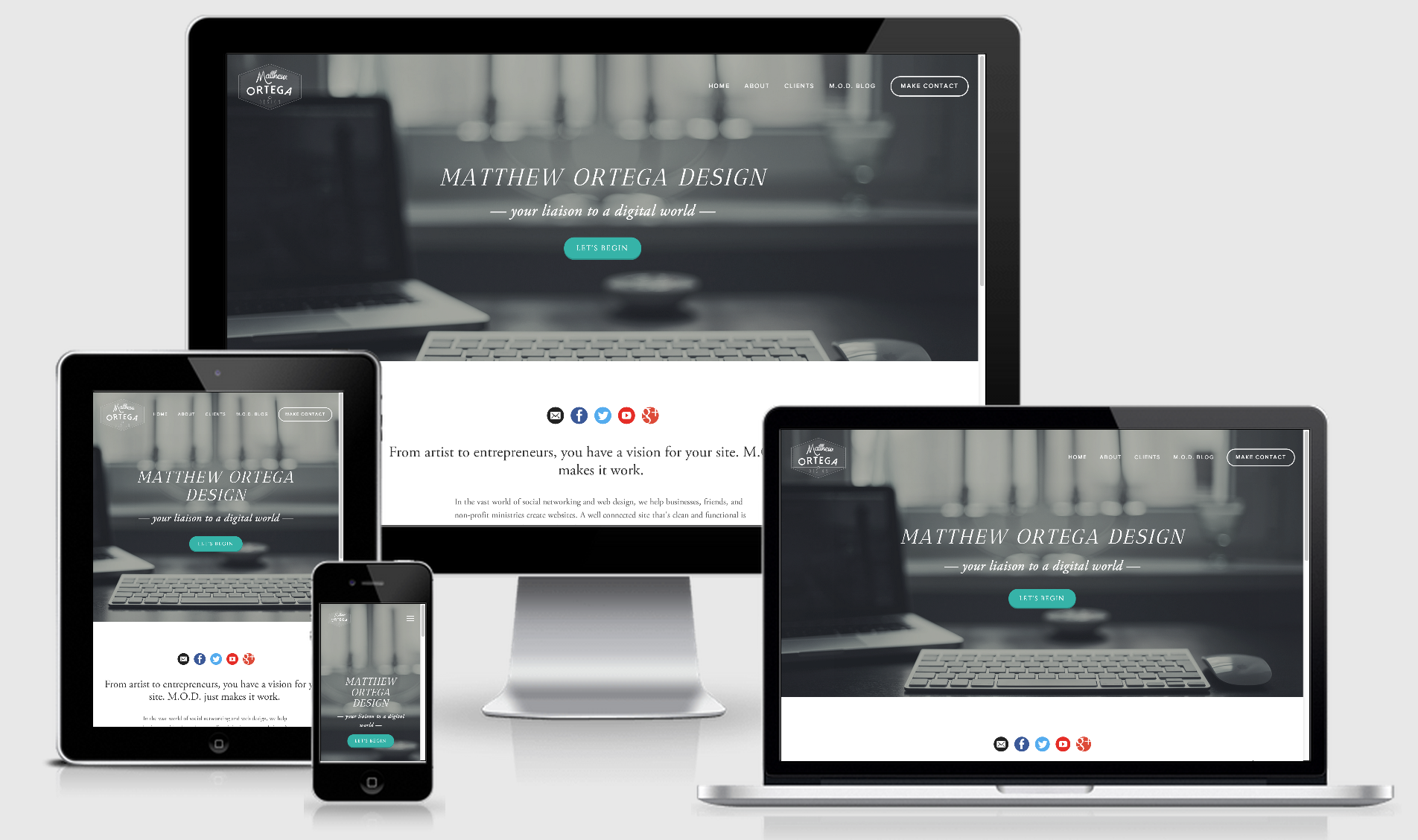 Matthew Ortega Design makes sure your site works on any device.