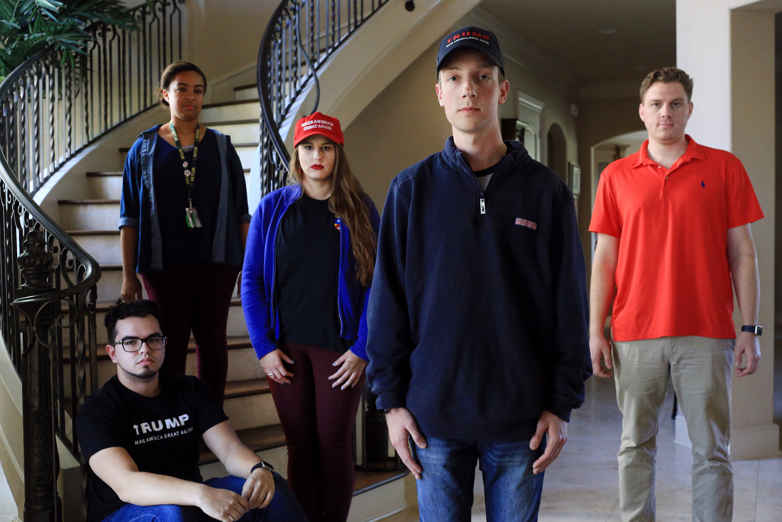 Local chapter presidents of Students for Trump use social media as a new form of grass-roots activism to rally supporters across the greater Houston area. After having worked together online, the members met for the first time on Thursday, March 25 at a member's gated community home in Missouri City.