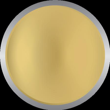 Metallic reflective gold