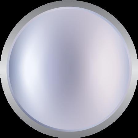 Metallic reflective silver