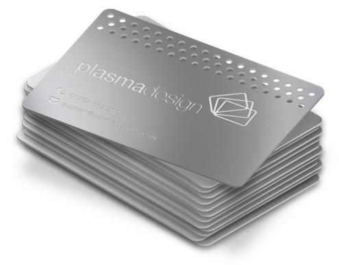 A stack of original metal cards