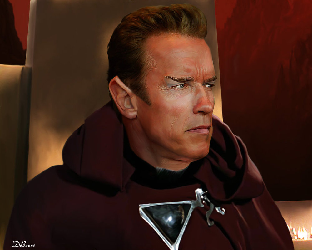 Yes, this is Arnold Schwarzenegger as a Vulcan. Thanks to  D. Beers of Deviant Art  for this!