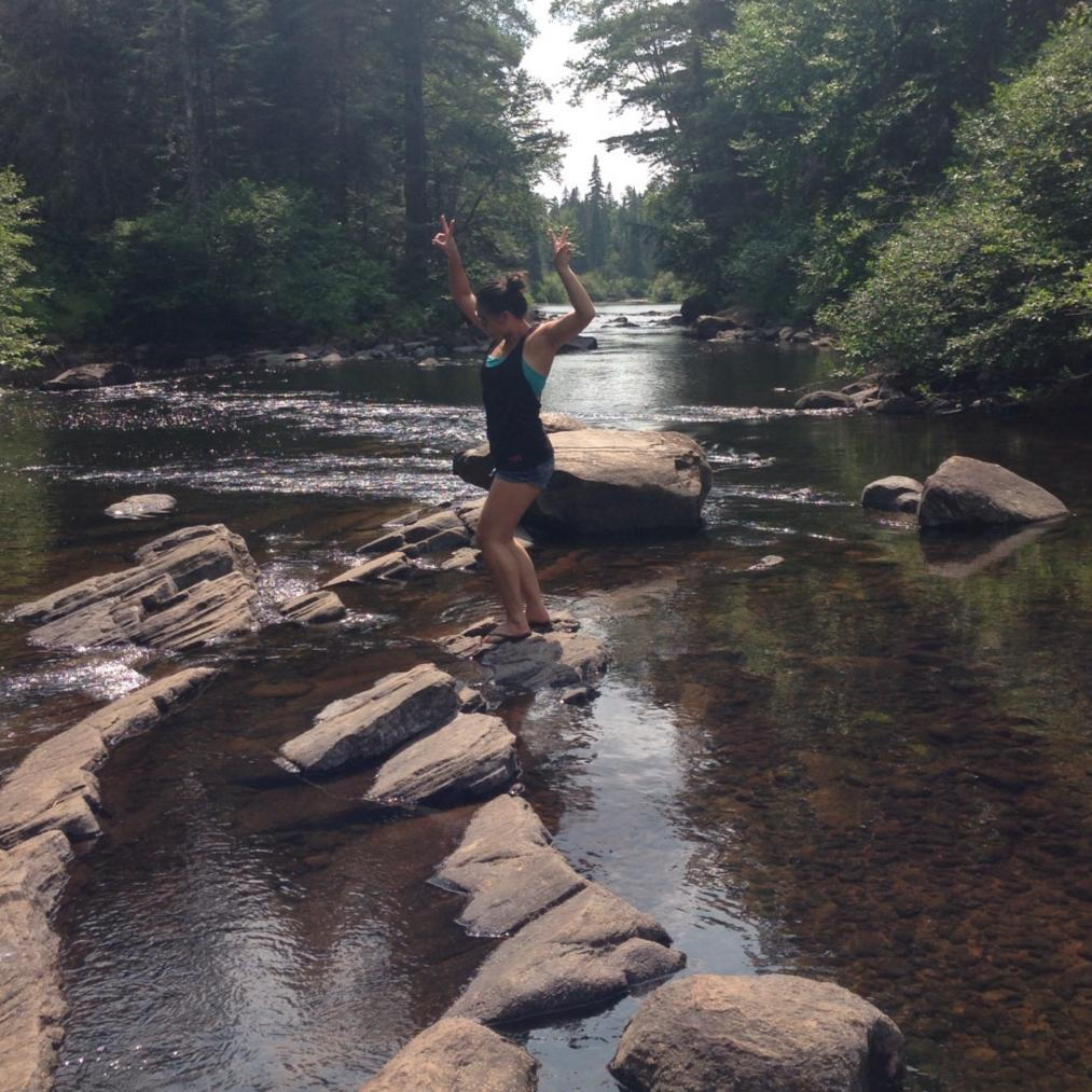 Here's the oh-so happy Cindy Chang feeling lucky to love this fresh Canadian water