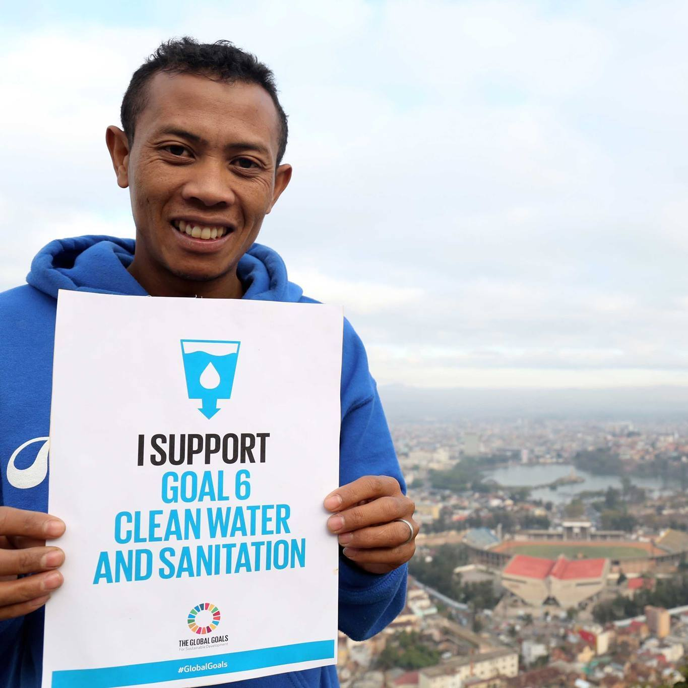Pictured here is Ernest, a #waterwarrior