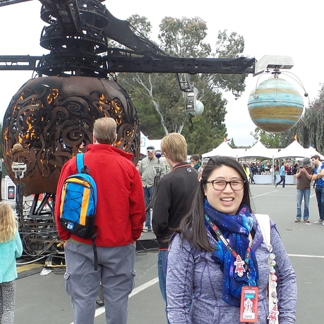 Working at the Bay Area Maker Faire.