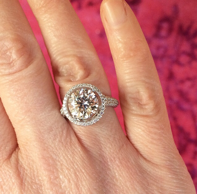 Bruce knocked it out of the park with this ring, and Jodi is over-the-moon happy!!! Lucky to have witnessed the love of this special couple, beautiful diamond, and beautiful people.