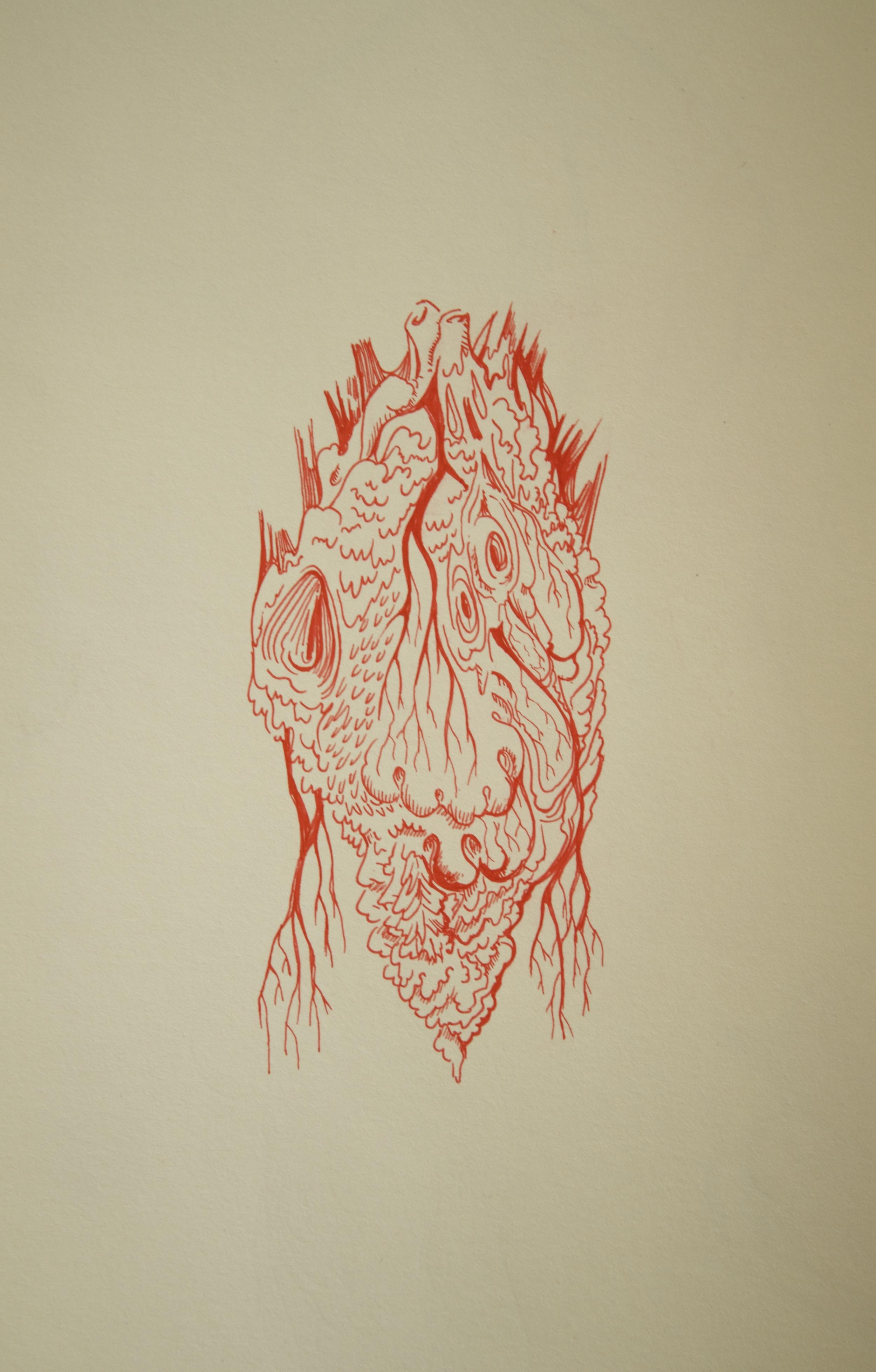 New Organ - Archival ink inMoleskine sketchbook