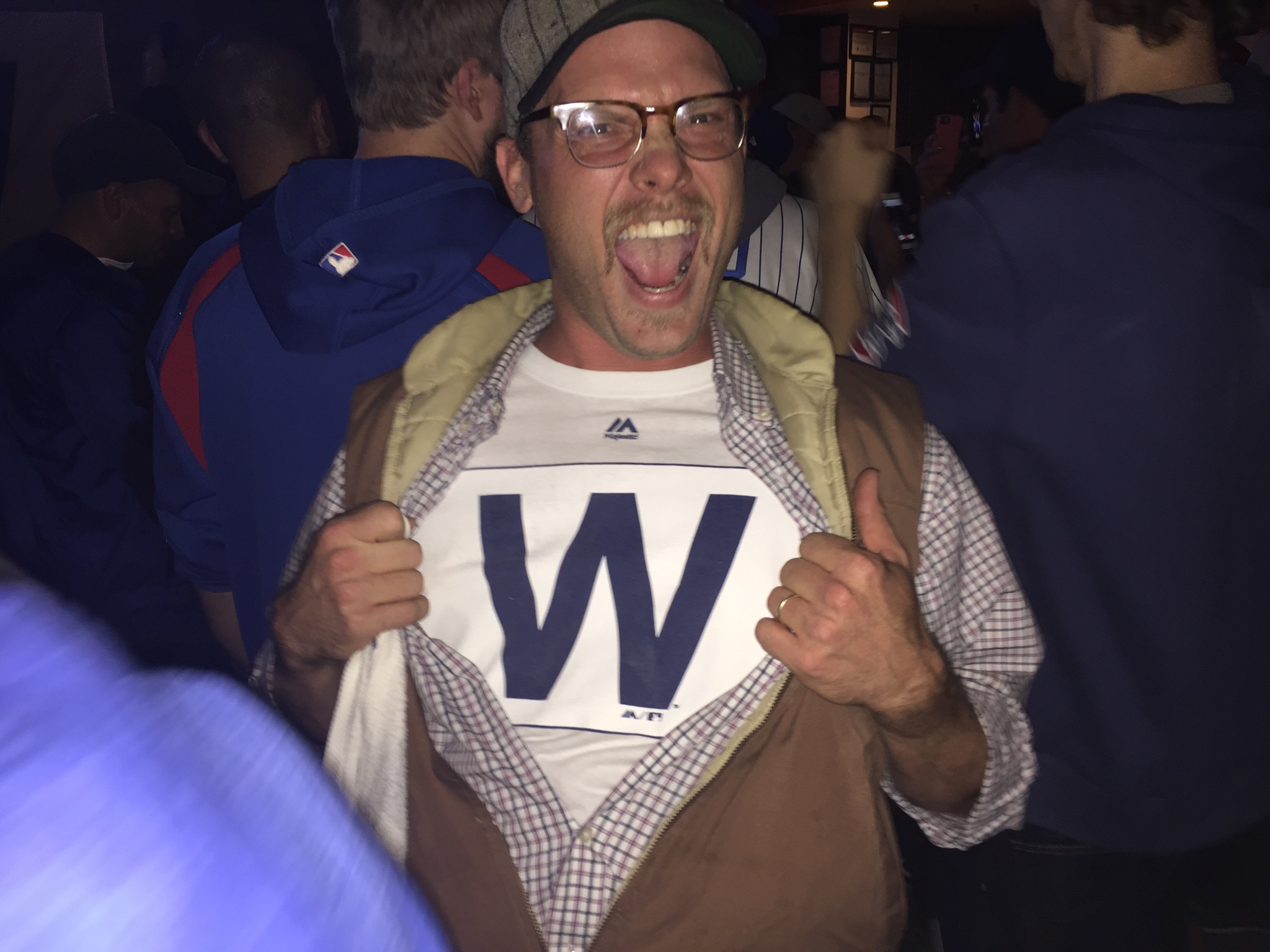 Me and Grandpa's vest flying the W after Game 5
